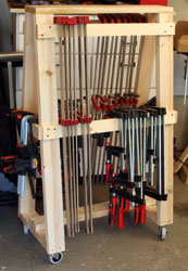 Building The Newwoodworker Com Mobil Clamp Rack Woodworking Info Tips Tool Reviews And Plans Newwoodworker Com Llc