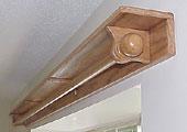 Shelf curtain rod
